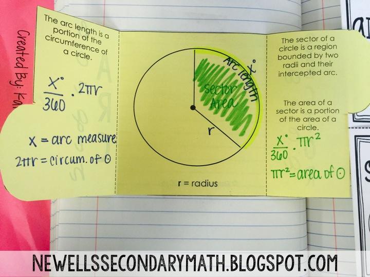 Sector Area And Arc Length Mrs Newell S Math