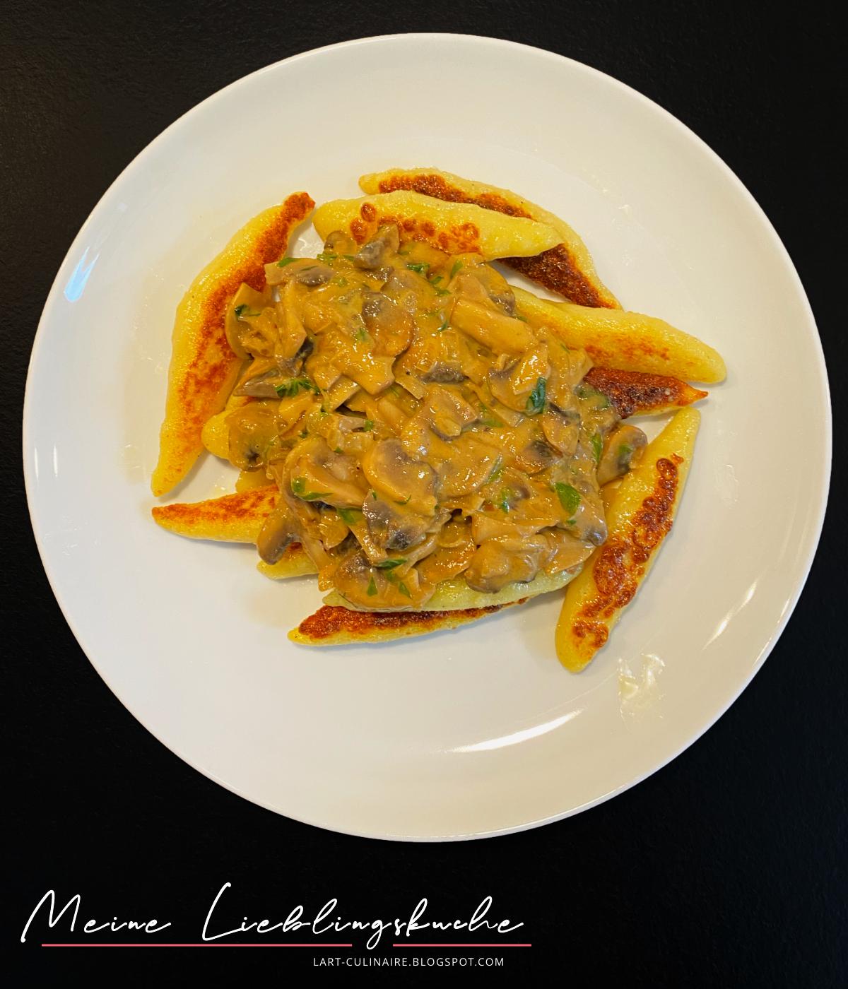 Schupfnudeln mit Pilz-Sahne-Sauce
