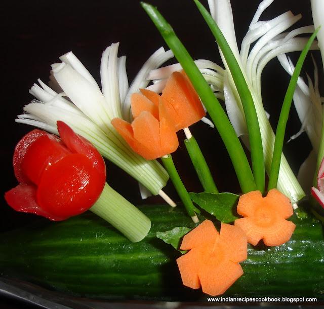 Simple Salad Decoration / Vegetable carving decoration