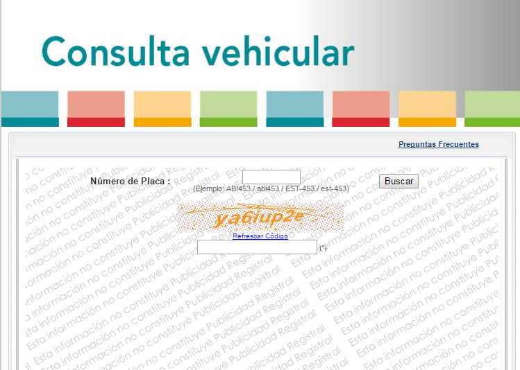 Sunarp consulta vehicular