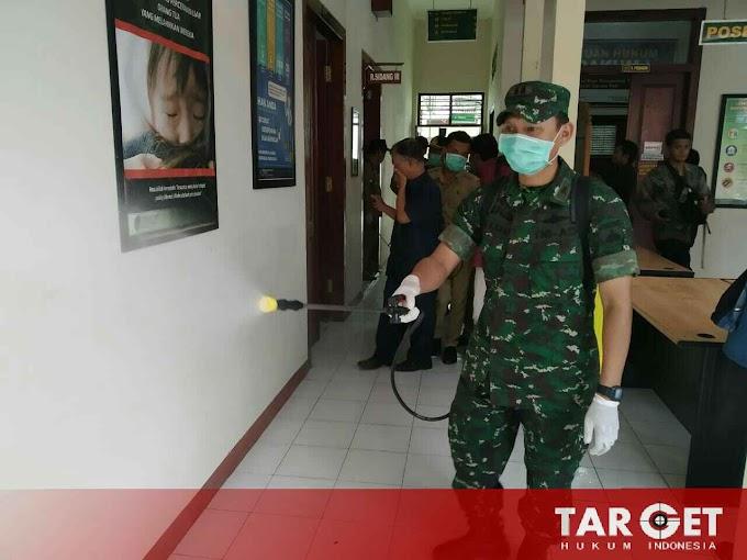 Soliditas TNI, Kodim Pati Bersama Forkompinda Antisipasi Pencegahan Virus Corona