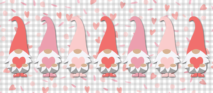 Valentine Gnome Facebook Cover