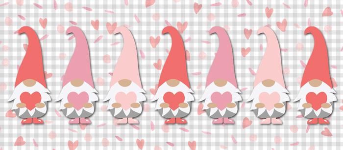 Valentine Gnome Facebook Cover