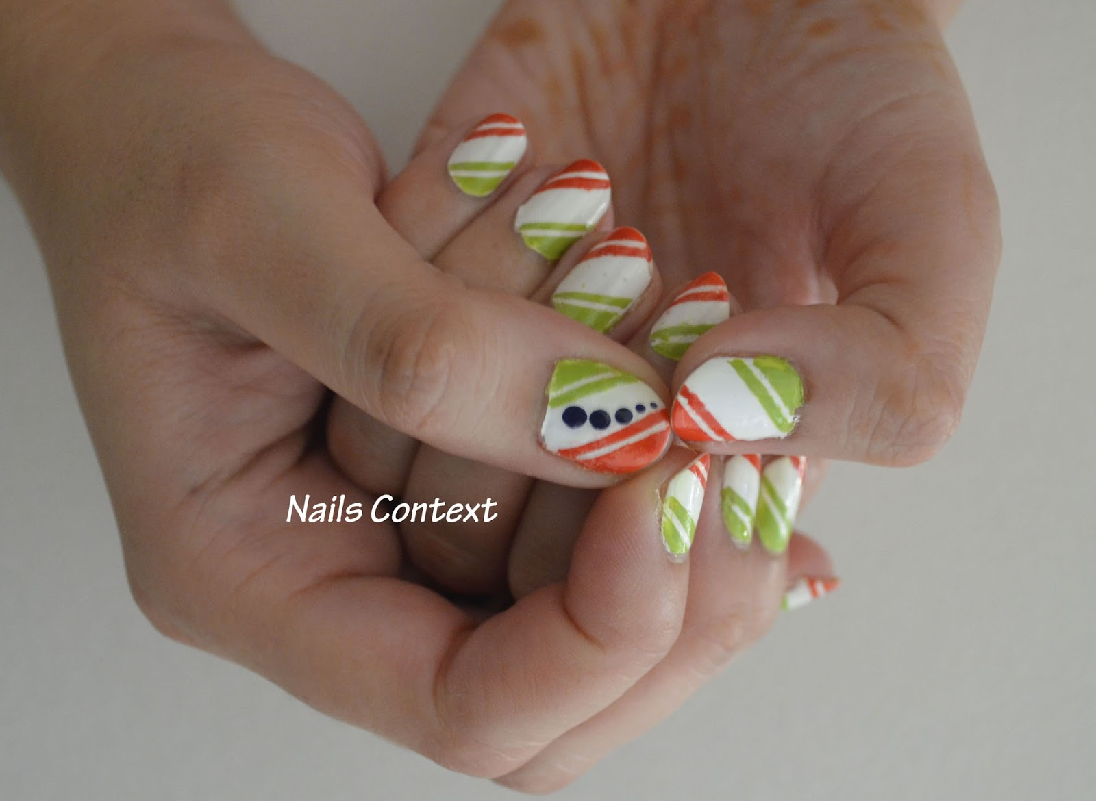 Indian Tricolor nail art- Celebrate the colors of freedom on your nails