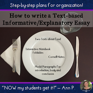 Teach the organization of text-based informative/explanatory essays with step-by-step examples, Cornell notes and interactive notebook activities all along the way.