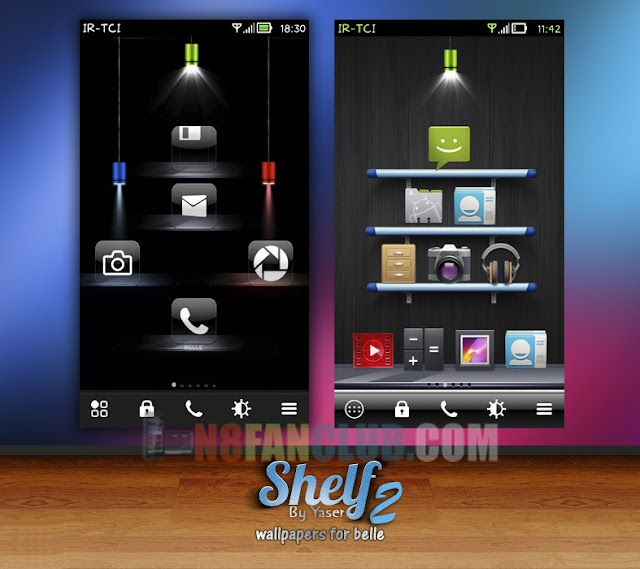 Creative Shelf Wallpapers Pack For Nokia N8 Belle