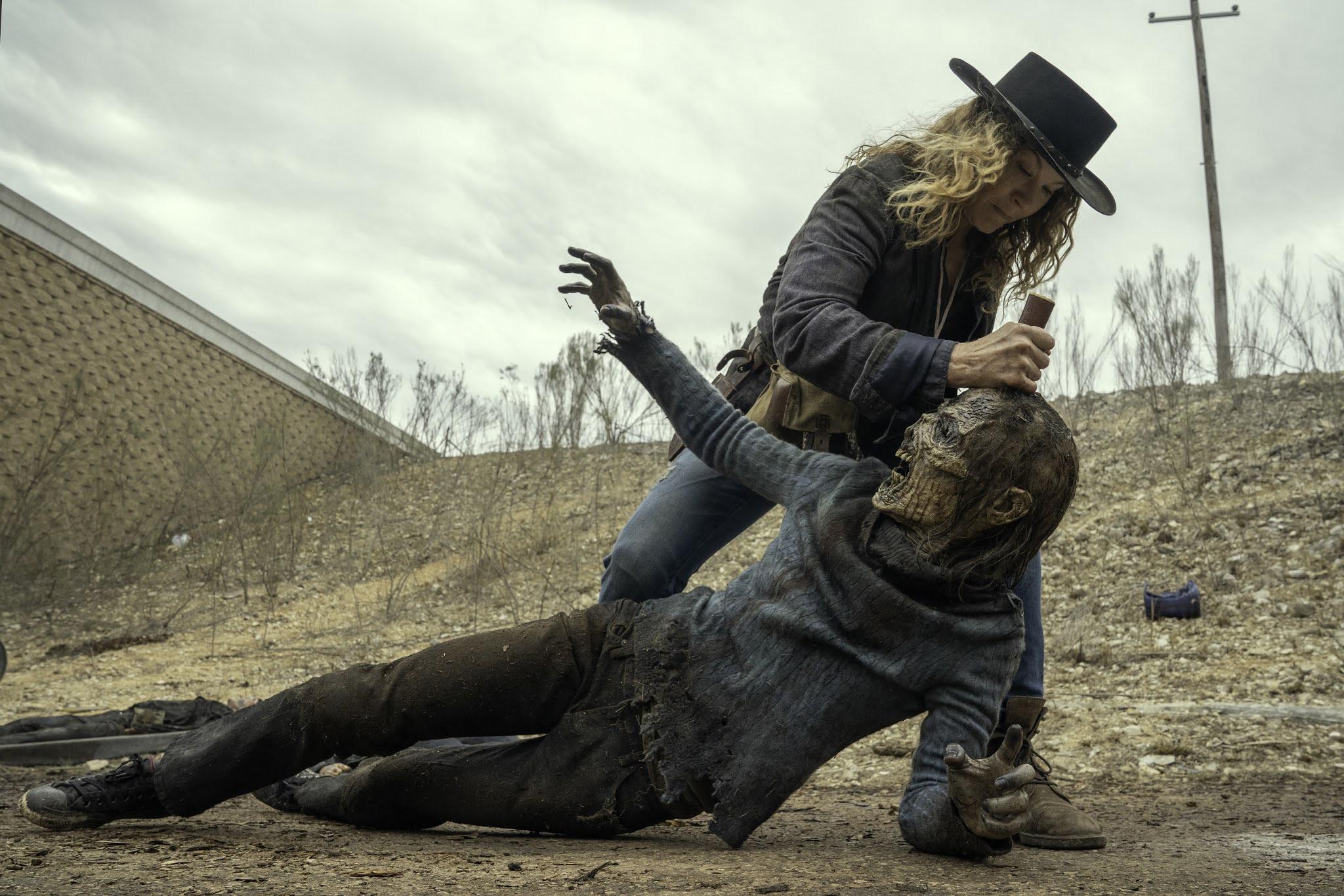 June mata a un caminante en Fear The Walking Dead