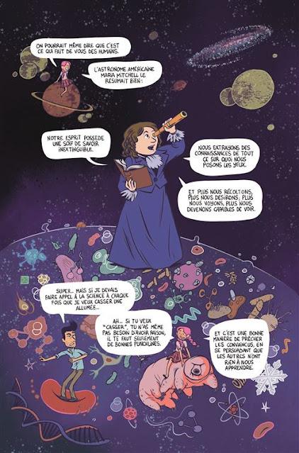 """page de """"L'ESPRIT CRITIQUE"""" de Gally et Isabelle Bauthian chez Delcourt"""
