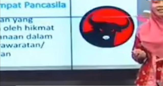 Viral Video Sekolah Online Ajarkan Lambang Sila Keempat Pakai Logo PDI-P, Ini Penjelasan Disdik