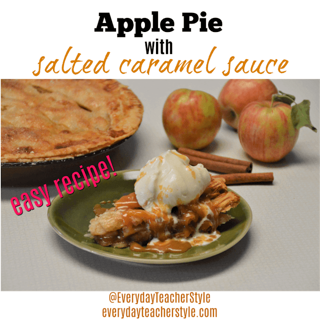 APPLE PIE WITH SALTED CARAMEL SAUCE RECIPE