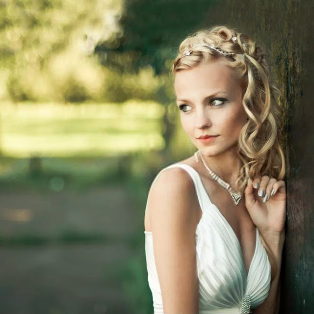 Wedding Day Blonde Hairstyle