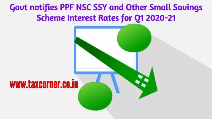 Govt notifies PPF NSC SSY and Other Small Savings Scheme Interest Rates for Q1 2020-21