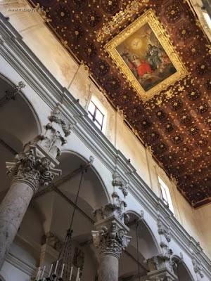 Detalle techo de la Basilica di Santa Croce