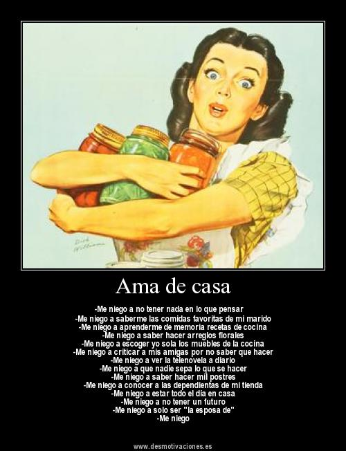 Ama de casa Amar ser Ama de casa Love to be housewife - bbq flyer
