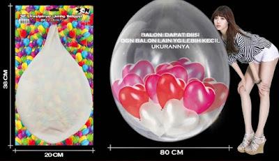 Balon Latex Transparant JUMBO (SON Product)