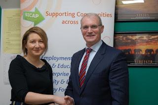 Adeline O'Brien with Councillor Kieran Dennison, Chairman of Blanchardstown Area Partnership