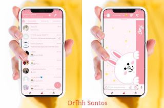 White Teddy Bear Theme For YOWhatsApp & Fouad WhatsApp By Driih Santos