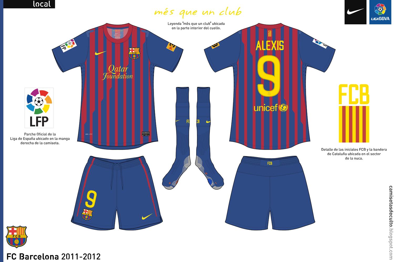 ebc524d1b0 El kit de visita es inédito ya que Barcelona nunca había utilizado un kit  negro en toda su rica historia. La camiseta utiliza un especie de cuello