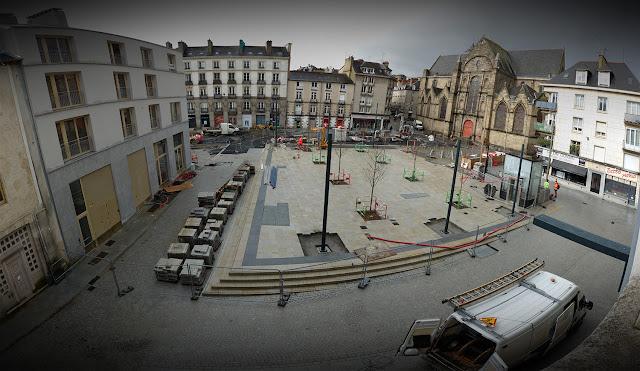 Panoramique de la Place Saint-Germain le 1er Février 2021...