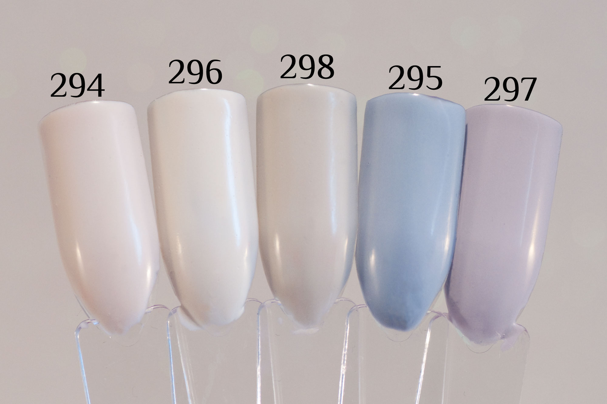 Pink Gellac Uncovered 6 Collection Swatches - comparison