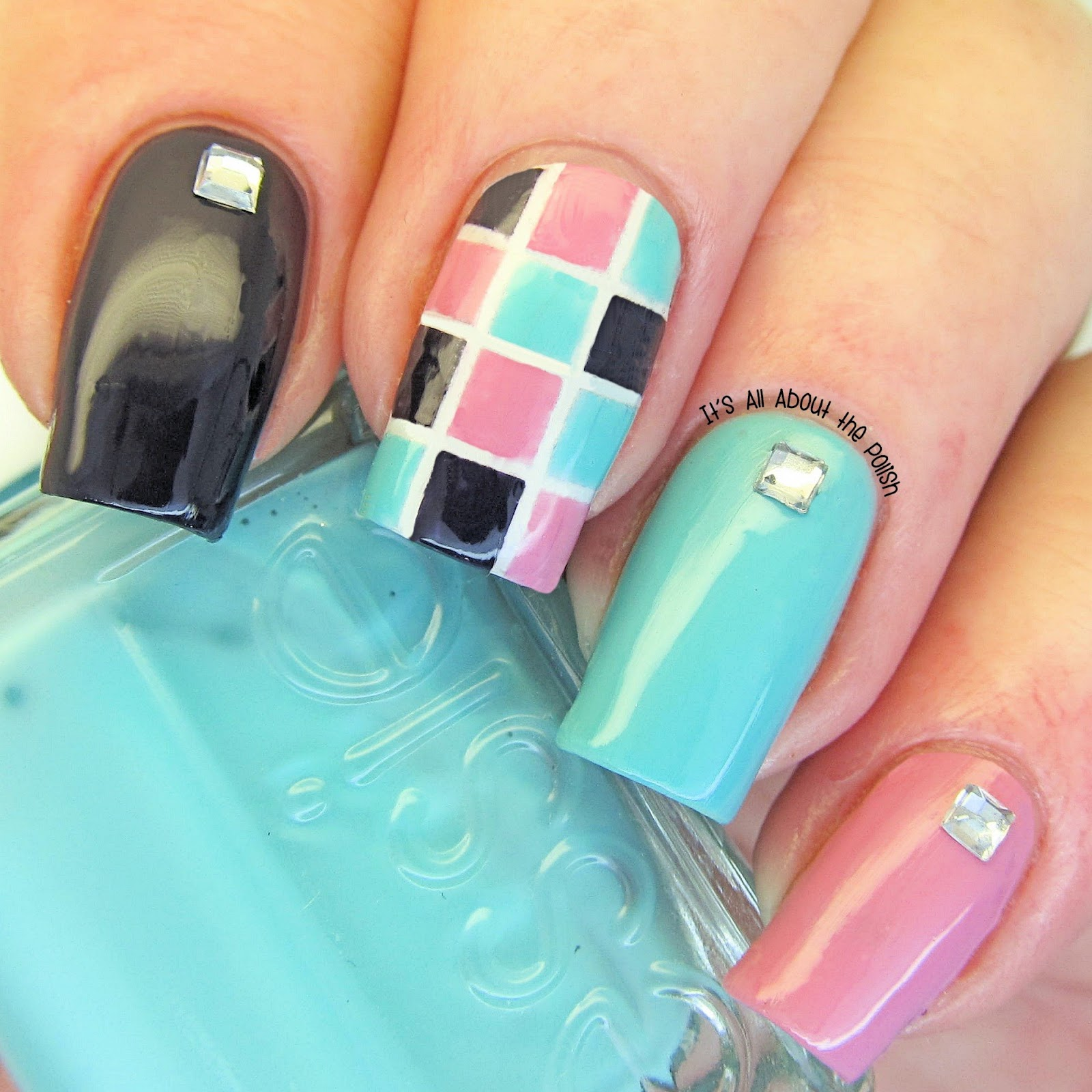 It's All About The Polish: Geometric Square Nail Art