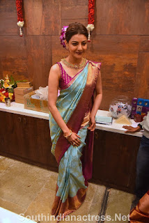 indian 2 tamil movie actress kajal agarwal grand launch of vidhatri shopping mall event Pictures 5