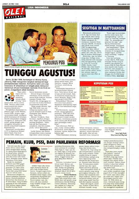 LIGA INDONESIA TUNGGU AGUSTUS 1998