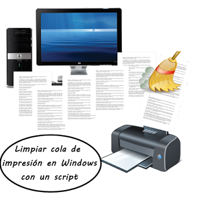 Limpiar cola de impresión en Windows con un sencillo script