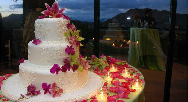 tops for wedding cakes tarta de cumpela 241 os blanca decorada con p 233 talos rosas ツ 21058
