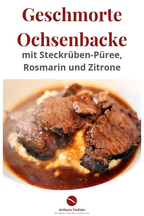Ochsenbäckchen/Ochsenbacke geschmort und Steckrübenpüree mit Rosmarin und Zitrone #fleisch #geschmort #backofen #ofen #zart #mole #sauce #weihnachten #festlich #menü #salat #foodblog #foodphotography #kalbsbäckchen #ochsenbäckchen #schmoren #braten #kochen #rezept #einfach #slowcooker #lafer #jamie #oliver #mälzer #chefkoch #sterneküche #polenta #mais #grieß #beilagen #püree #wie #lange #preis #parieren #anbraten #teuer