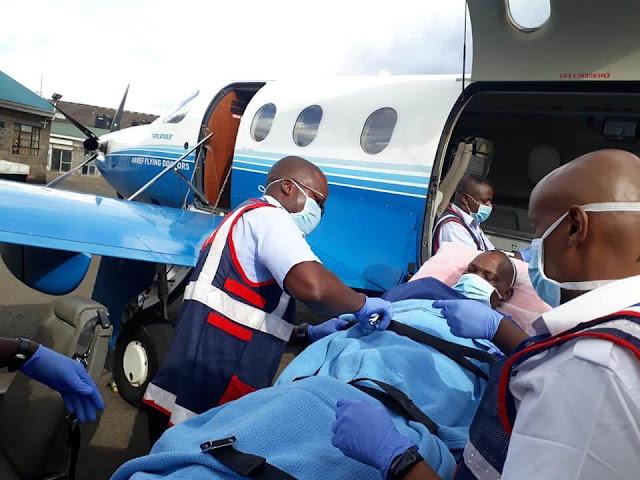 Hon James Lusweti Mukwe airlifted to Nairobi.