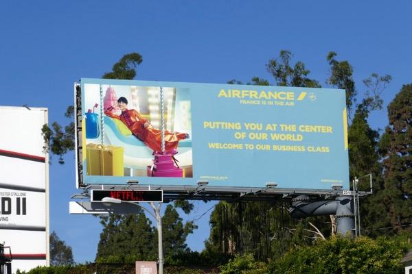Air France business class billboard