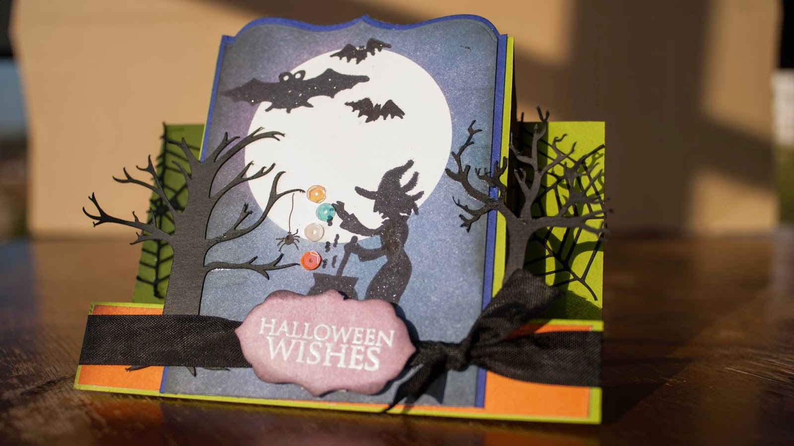 center stair step card halloween witch