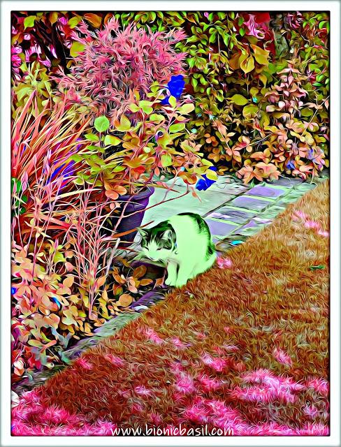 Melvyn's Supurr Green Selfie ©BionicBasil® Caturday Art