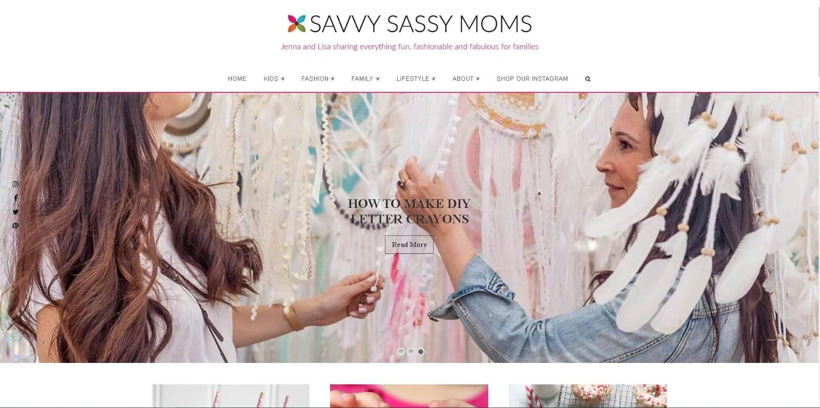 luchshie-blogi-mam-glavnaya-stranicza-savvy-sassy-moms-skrinshot