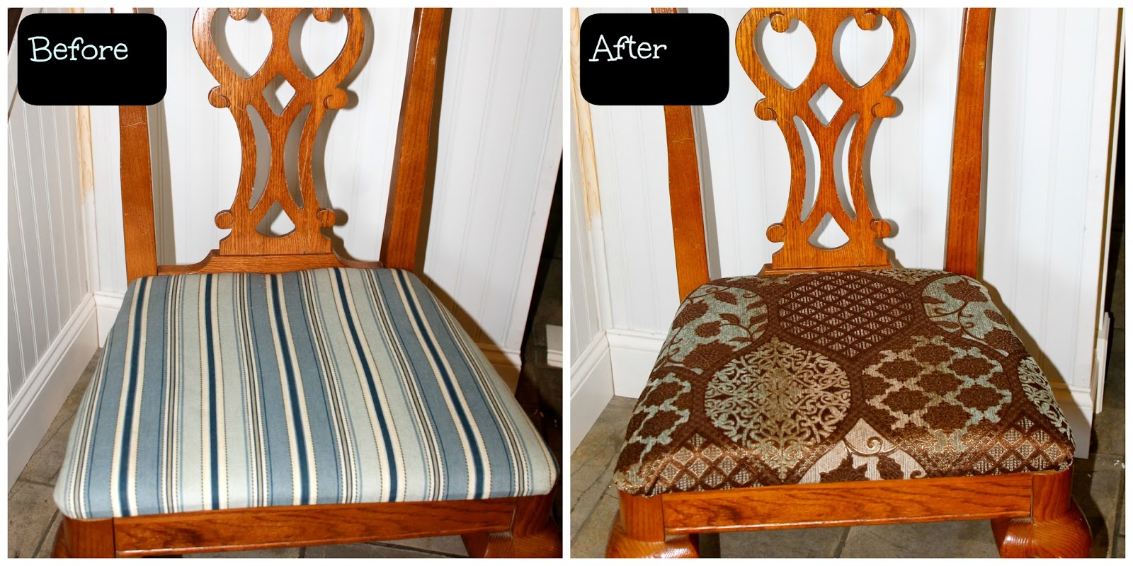 HoliMess: Replacing The Fabric On Dining Room Chairs