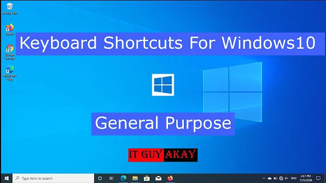 windows keyboard shortcuts for windows 10