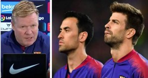 Koeman reveals the important Pique and Busquets for Barcelona despite their deep form