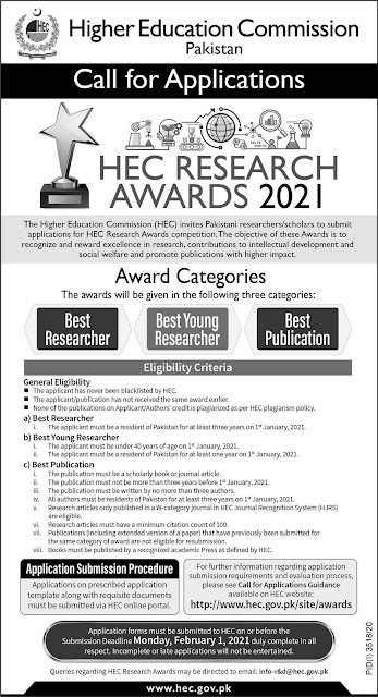 HEC RESEARCH AWARDS 2021