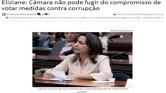 ELIZIANE GAMA COBRA VOTAÇÃO DO PROJETO DE COMBATE À CORRUPÇÃO