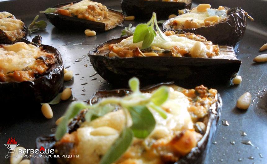 Баклажаны с грибами в духовке