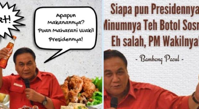 Viral Meme Bambang Pacul: Siapapun Presidennya, Puan Maharani Wakilnya
