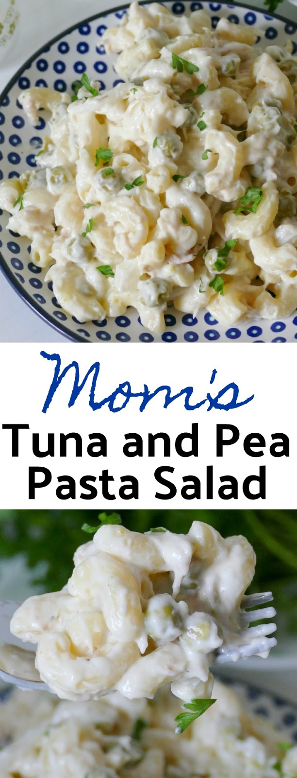This tried and true family favorite is simple, affordable and delicious! Perfect for picnics, BBQ's, game day or any potluck! Macaroni noodles, canned tuna and canned peas make this salad super easy to make!
