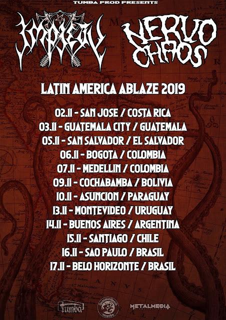 NervoChaos: encerrando turnê latino-americana com o Impiety em shows no Brasil
