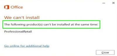 "Khắc phục lỗi Office: ""The following products cannot be installed"""