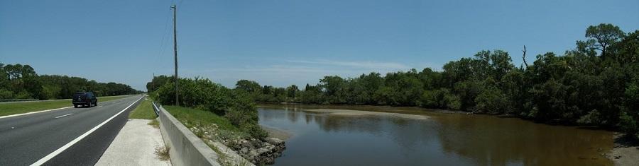 Halifax River al borde de la US 1