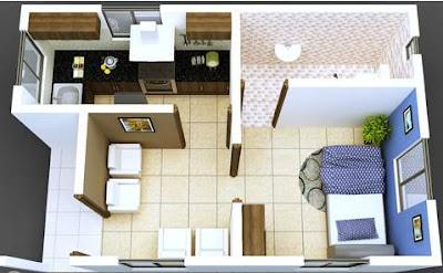 Model Denah Rumah Minimalis 1 Lantai Terbaru