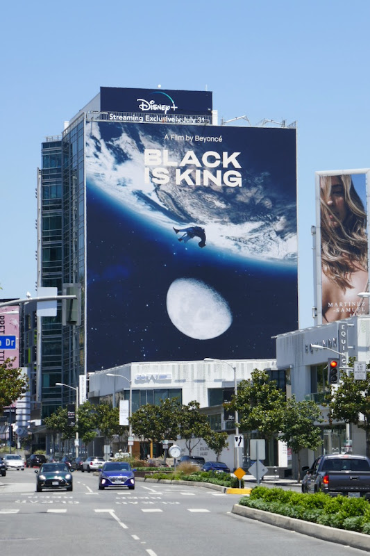 Giant Black Is King Disney+ film billboard