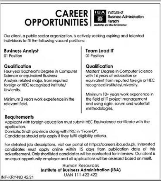 iba-jobs-2021-karachi-institute-of-business-administration-karachi