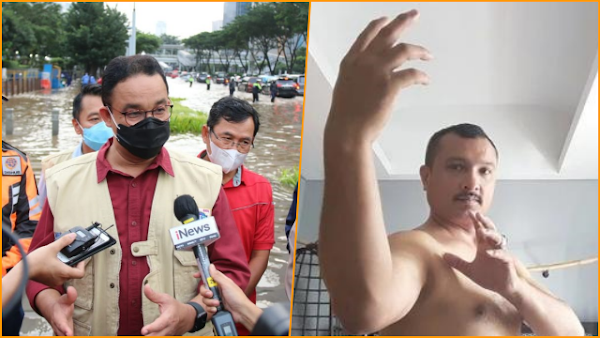 Anies Pamer Prestasi Atasi Banjir, Ferdinand: Berkat Gubernur Saleh, Aku Gila!